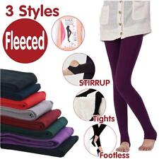 Sexy Lady Women Winter Warm Fleece Leggings Pants Thick Footless Stirrup