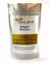 Natural Ginger Root Extract 12000mg for upset stomachs,nausea & travel sickness