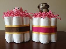 NEW Mini Diaper Cakes Baby Shower Gift or Centerpieces - Set of 2