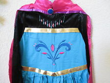 Frozen Inspired Elsa Coronation Gown Dress Costume with Cape Size 2,3,4,5,6,7