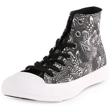Converse Chuck Taylor All Star Feathers Hi Womens Black White Trainers New Shoes