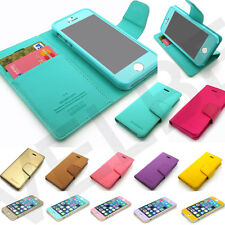 Pu-leather Card/Bill Slot Wallet case Stand Pouch cover For iPhone 4 4S 5 5S