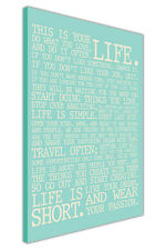 LIFE MANIFESTO QUOTE CANVAS WALL ART PICTURES INSPIRATIONAL PRINTS HOME DECOR