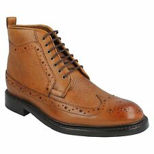 MENS SIZE CLARKS LACE UP TAN LEATHER BROGUE FORMAL ANKLE BOOTS EDWARD LORD