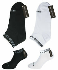 12 Pairs Unisex Sneaker Socks Sport-Footlets White And Black With 90% Cotton