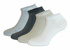 12 Pairs Women's Sneaker Socks From Cotton In Anthracite/ Beige/ Gray/ Cream