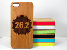 Marathon Runner Case for iPhone 5C Bamboo Wood Cover 26.2 Miles Running Gift Run