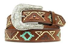 Nocona Western Womens Belt Leather Hide Thunderbird Embossed Brown N3412402