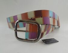 Womens Fashion Belt Patchwork Design Faux Leather 2 Size Choices XXS and XS New
