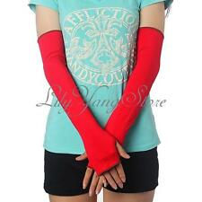 Fashion Long Cotton Women Girl Warm Arm Warmer Fingerless Driving Party Gloves
