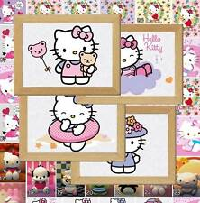 Hello Kitty Kitten Cat Picture Poster Print Bedroom Wall Decor gift  (Set E)