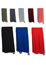 WOMENS LADIES LONG SKIRT SIZES S/M M/L MODEST MAXI STRETCHY - MADE IN THE UK