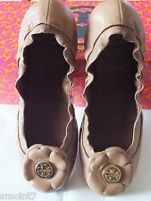 Tory Burch SHELBY Flats-Vintage Mestico in Sand Lthr.  100% Authentic