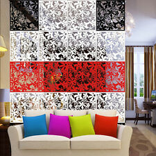 Butterfly Flower Hollow Room Divider Hanging Screen Panels Curtain Wall Decal