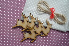 WOODEN CHRISTMAS REINDEER GIFT TAGS/ TREE DECORATIONS / FESTIVE CRAFT