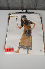 Native American Black Crow Squaw Woman's Halloween Costume F5298