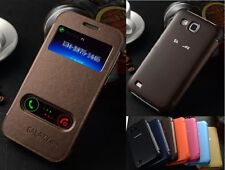 New Protective Flip Luxury PU Leather View Case Cover For Samsung Galaxy