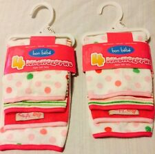 NWT Bon BeBe Infant Baby Boy Girl Newborn 8 Bath Washcloth Super Soft Terry Gift