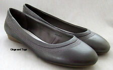 NEW CLARKS ELIZABETH METALLIC LEATHER SHOES PUMPS EXTRA WIDE FIT