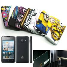 Pictorial Pattern Soft TPU GEL Case Cover + LCD SP for Huawei Ascend Y300, U8833