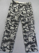 LEVIS Men GRAY BLACK CAMO RELAXED HVY CARGO PANTS NWT 42 38 33 31 x 34 32 30 $64