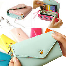 STUNNING WOMEN MULTIFUNCTIONAL ENVELOPE WALLET PURSE PHONE CASE FOR IPHONE 5 4S