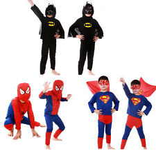Halloween Costume Party Cosplay Kids Boys Spider-Man Superman Batman Suit