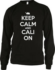 Keep Calm and Cali On California Republic Pride Life Swag Long Sleeve Thermal