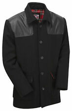 New Mens Vintage MOD Worker Skinhead Punk Donkey Wool Jacket Coat Overcoat