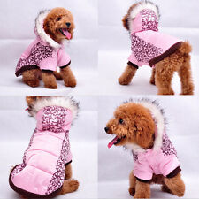 2015 Autumn Winter Dog Clothing Wear Coats Pink Camo Dog Jacket Sweater Clothes