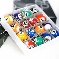 Lucky Pool Billiard Snooker Table Ball Pendant Keyfob Keyring Keychain Toy Gift