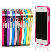 Promotions Metal Alloy Bumper Buckle Frame Cases Covers Skins for iPhone 4 5 NWT