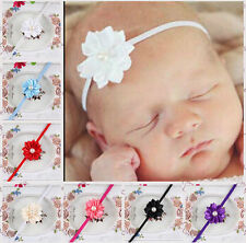 Baby Infant Toddler Girl Headband Mini Pearl Flower Headwear Hair Band Hot Sell