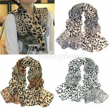 170*70cm Sexy Ladies Leopard Comfortable Chiffon Scarf Wrap Shawl Stole 3 Colour