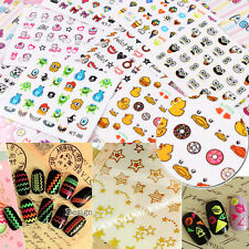 3D Mixed Designs Decal Stickers Nail Art Acrylic Manicure Tips DIY Decoration