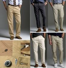 Casual Mens Chinos Cotton Trousers Fit Straight Leg Slim Pants
