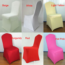 Lycra Spandex Stretch Banquet Chair Covers Cases Wedding Party Decor Foldable