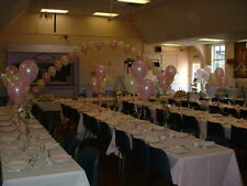 WEDDING PARTY PROM BALLOON DECORATION PACKAGE - ARCH,10 TABLE & 2 FLOOR DISPLAYS