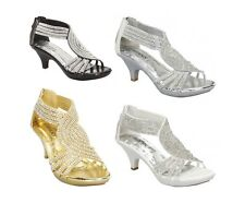 Angel 37 Rhinestone Platform Pumps Sandals Shoes PROM WEDDING Kitten Heel
