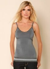 NWT NEW Hale Bob Gray Lace Tank Top V Neck Cami Size XS,S