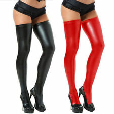 TREND Sexy Long Spandex Latex Rubber PU Leather Stocking Thigh High Tights Sock