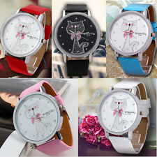 quartz watch big cat pattern faux leather watch100% brand new