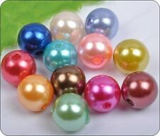 random Mixed color 4mm 6mm 8mm 10mm faux Imitation Pearl round loose beads
