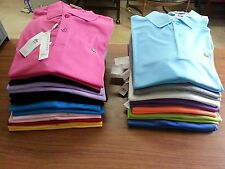 New Men Lacoste Polo Shirt Size Small, Medium Cotton Blend, Short Sleeve, Solid
