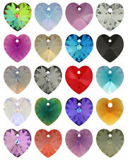 SWAROVSKI ELEMENTS 6228 Heart Pendant Many Colors & Sizes