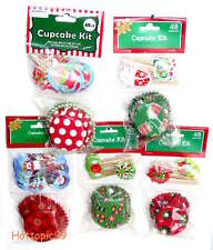 48ct. Cupcake Liners Decorating Kit Holiday Christmas Cups & Picks New!