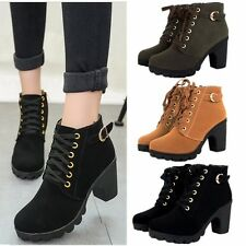 Women platform high heel single shoes vintage Motorcycle Boots Martin Boots