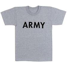 Mens T-Shirt - Army Physical Training, Gray by Rothco