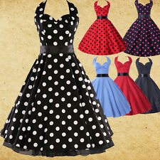 ❤ CLEARANCE ❤ ROCKABILLY 50s POLKA DOT VINTAGE SWING PIN UP PARTY EVENING DRESS