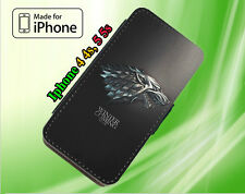 Game of Thrones Winter is Coming Stark PU leather flip wallet case iphone 44s55s